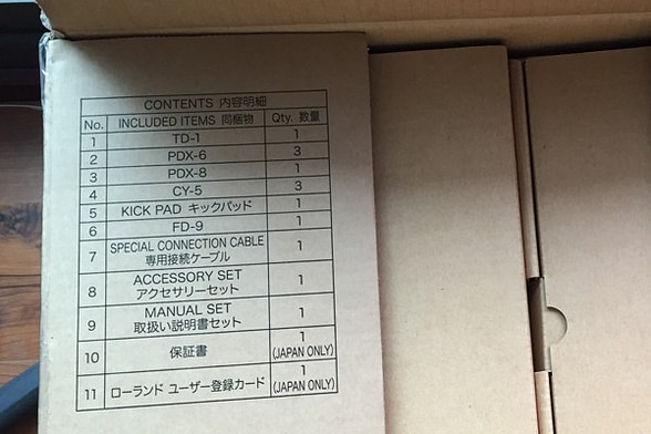 TD-1KPX的主要配件清單